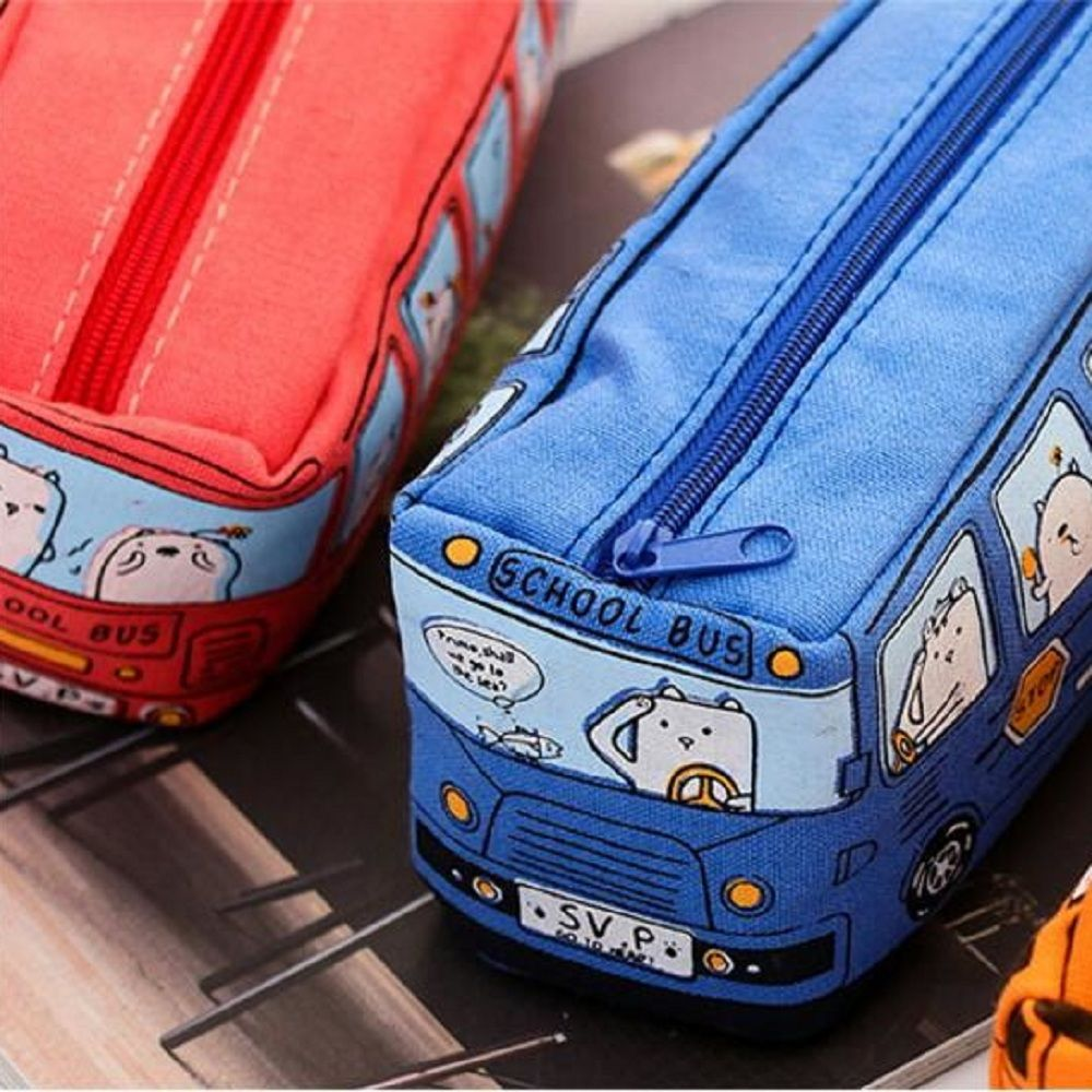 Back To School Gifts For Kids: 1Pc Creative Cartoon School Bus Large Capacity