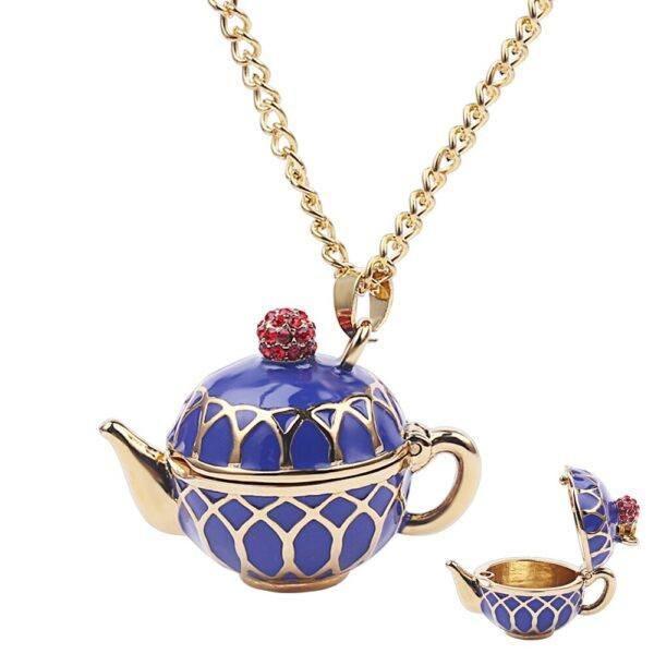 Gifts That Are Blue: Blue Teapot Necklace