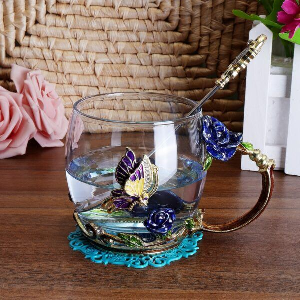 Gifts That Are Blue: Enamel Tea Cups 5