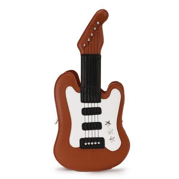 Mini Fashion Guitar Design Casual Pu Leather Shoulder Bag