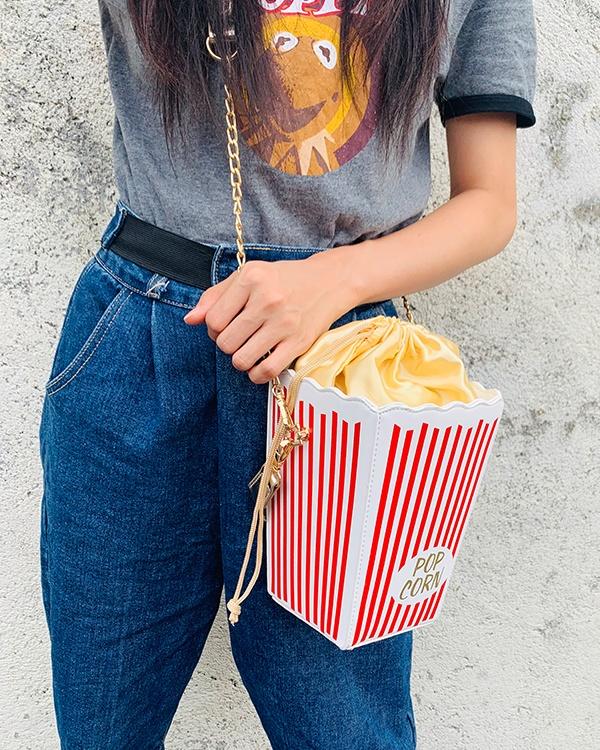 Red Stripe Popcorn Bucket Design