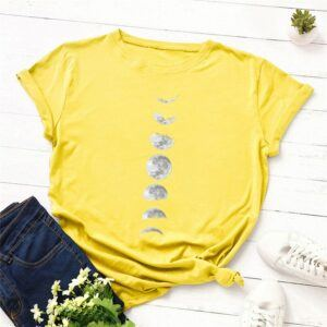 Statement T-Shirts: Phases of the Moon Yellow