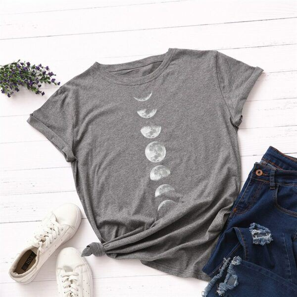 Statement T-Shirts: Phases of the Moon Dark Grey