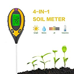 4-in-1 Soil Temperature/Light/pH/Moisture Measuring Tool