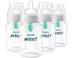 Anti-colic Baby Bottles with AirFree vent, 4pk, 9oz
