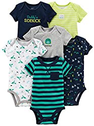 Baby Boys' 6-Pack Short-Sleeve Bodysuit