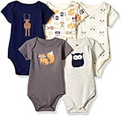 Cotton Bodysuits 5 pk