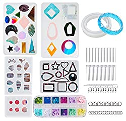 Craft Epoxy Resin Starter Kit for Jewelry Making 258 PCS
