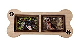 Dog Picture Frame in The Shape of a Dog Bone