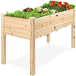 Elevated Wood Planter Box Stand