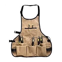 Garden Tool Apron: Professional Heavy Duty Work Apron with 14 Pockets
