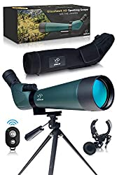 HD Spotting Scope with Tripod 20-60x80mm