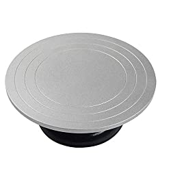 Heavy Duty Metal Pottery Decorating Banding Wheel, 12 Inches Diameter