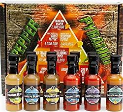 Gift Sets For Men: Hot Sauce Gift Set: The Pepper Pyramid Sampler