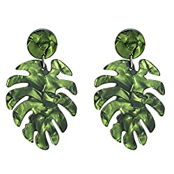Leaf Drop Dangle Earrings
