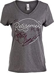 Cool Gifts For Gardeners: My (Garden) Retirement Plan Funny Gardener Gardening Vneck T-Shirt for Women