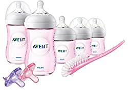 Natural Baby Bottle Pink Gift Set