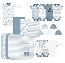 Newborn Essentials Gift Set for Baby Boys or Girls, 23 Piece, 0-3 months