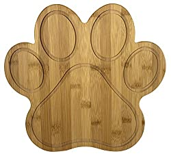 Paw Shaped Bamboo Serving And Cutting Board