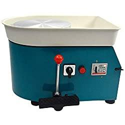 Pottery Wheel Forming Machine 25CM 110V 350W (Blue)