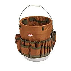 The Bucketeer Bucket Tool Organizer in Brown