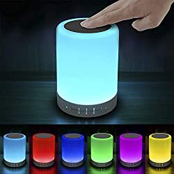 Gifts For Teens: Touch Bedside Lamp with Bluetooth Speaker