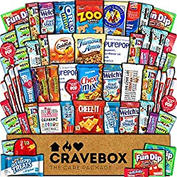 Ultimate Snack Variety Gift Box Care Package (60 Count)