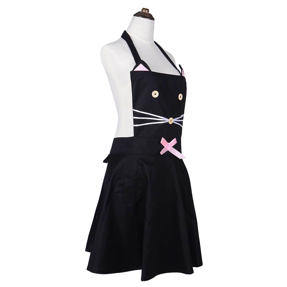 Cat Gifts For Her: Vintage Style Black Cat Apron
