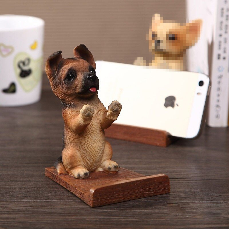 Dog Desk Decor Stand Bracket Universal Cell Phone Holder