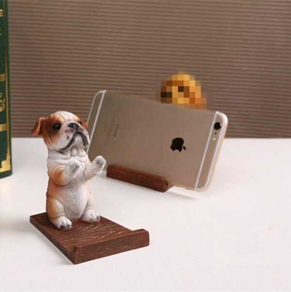 Dog Desk Decor Stand Bracket Universal Cell Phone Holder
