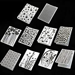 10 Patterns Scrapbooking Embossing Folders