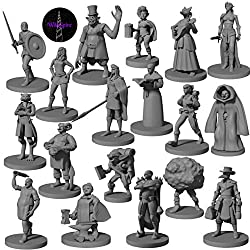 18 Townsfolk & Hero Miniatures for DND Miniatures