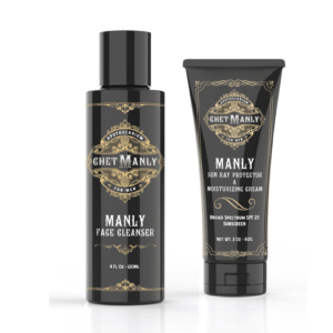 Chet Manly Basic Bundle: Face Cleanser and Sun Ray Protector & Moisturizing Cream