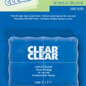 "Clear On Clear Large 5""X3.5"" Acrylic Block"