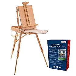 Coronado Large Wooden French Style Field and Studio Sketchbox Easel with Artist Drawer