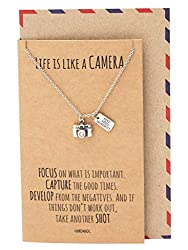 Cute Camera Miniature Jewelry for Women Inspirational Quote