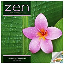 Deluxe 2021 Zen Meditation Wall Calendar With Over 100 Calendar Stickers