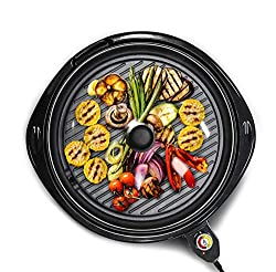 Elite Gourmet Large Indoor Electric Round Nonstick Grill