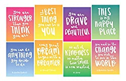 Focus and Zeal Inspirational Wall Art 8 Pack
