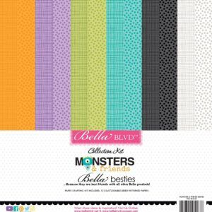 Monsters & Friends Bella Besties Cardstock Kit