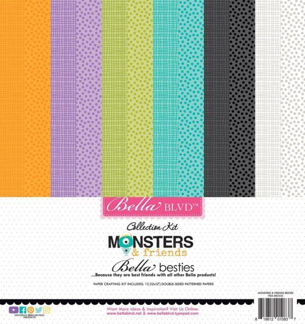 Monsters & Friends Bella Besties Cardstock Kit