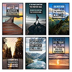 Motivational Posters Set of 6 11x17 in.