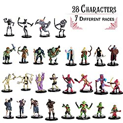 Painted DND Miniatures - 28 Mini Figures - All Unique Designs