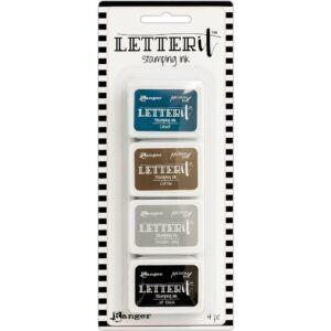 Ranger Letter It Stamping Ink Set #1