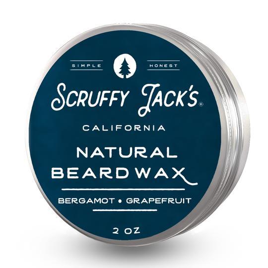 Scruffy Jack's Beard Balm/Wax - Bergamot Grapefruit - with Jojoba Oil and Mango Butter - 2oz.