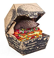 Funny Vegan Burger Socks Box - 2 Pairs
