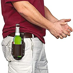 GreatGadgets Classic Beer Holster, Leather, Espresso Brown