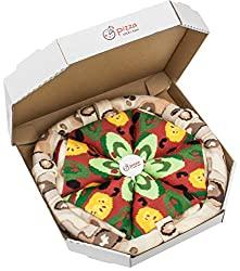 PIZZA SOCKS BOX Veggie 4 pairs