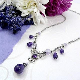 Upscale Bohemian Necklace: Amethyst