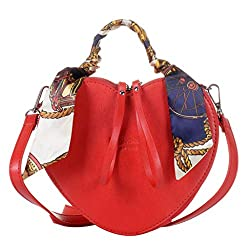 Women's Heart Shape PU Leather Handbag